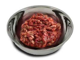 Beef Muscle Meat. Sold 30 lbs in a box.  6 frozen Tubes per box. Each Tube weighing approx 5 pounds.